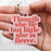 Though She Be But Little She Is Fierce Wooden Keyring