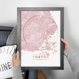Personalised Map of the Stars in Blush Pink and Gold