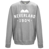 Peter Pan 'Neverland' Varsity Style Book Lover Sweatshirt.
