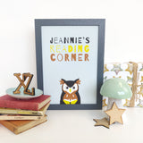 Personalised Scandinavian Animal Children's Print