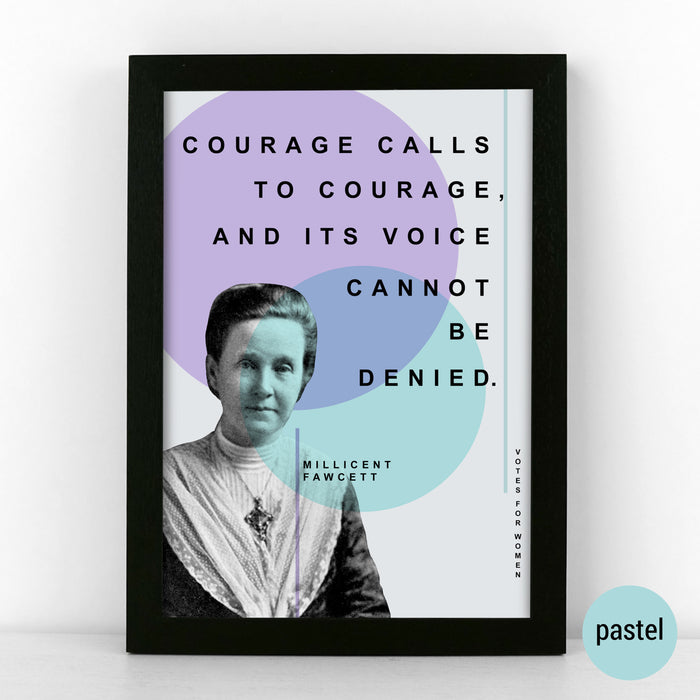 Millicent Fawcett Quote Poster