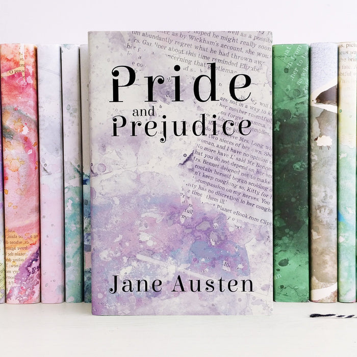 Pride and Prejudice Book by Jane Austen with Bookishly's cover design