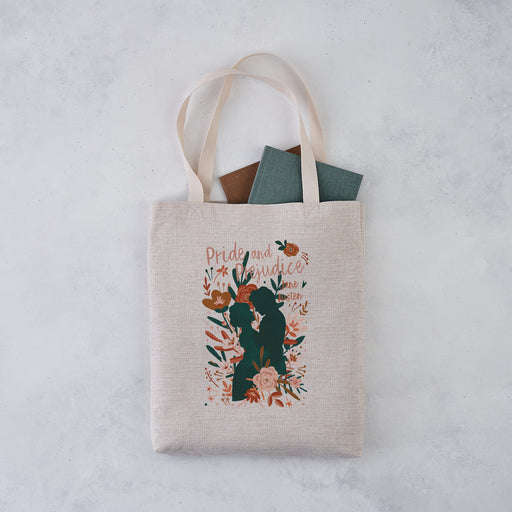jane austen pride and prejudice book cover tote bag