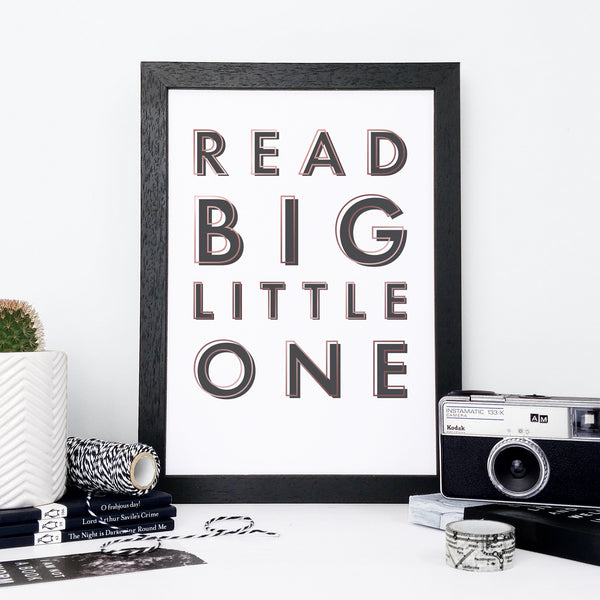 """Read big, little one."" Framed Literary Print Gift Ideas for Book Lovers"