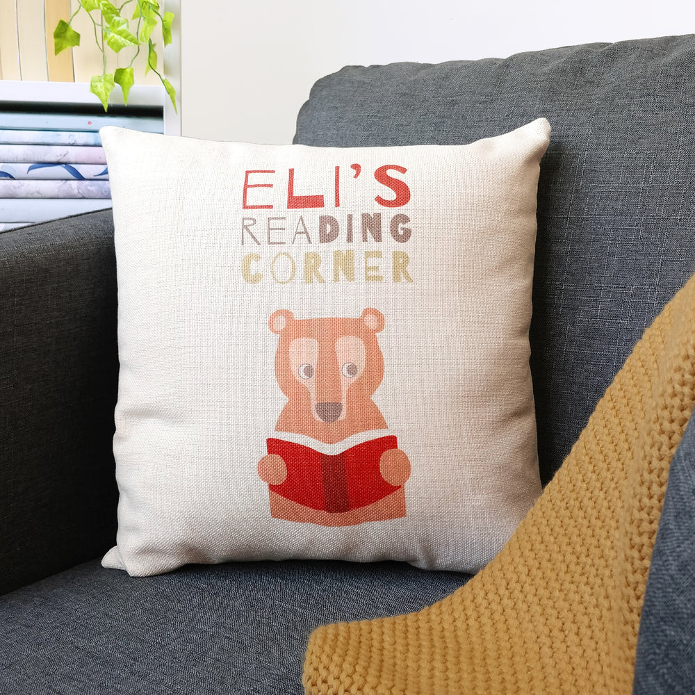 "Personalised Children's ""Reading Corner"" Cushion Cover"
