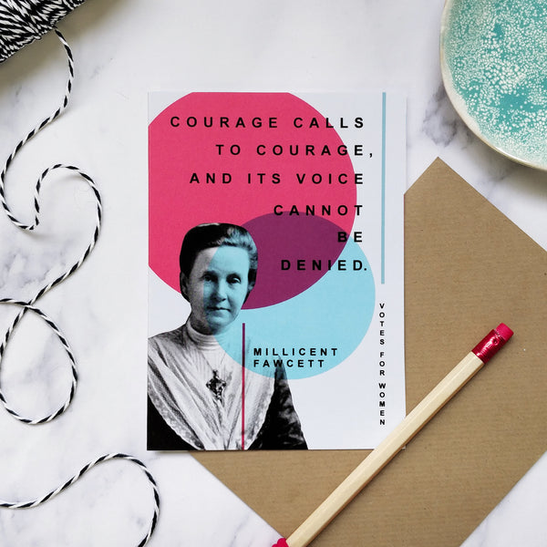 Votes For Women 'Courage' Greeting Card