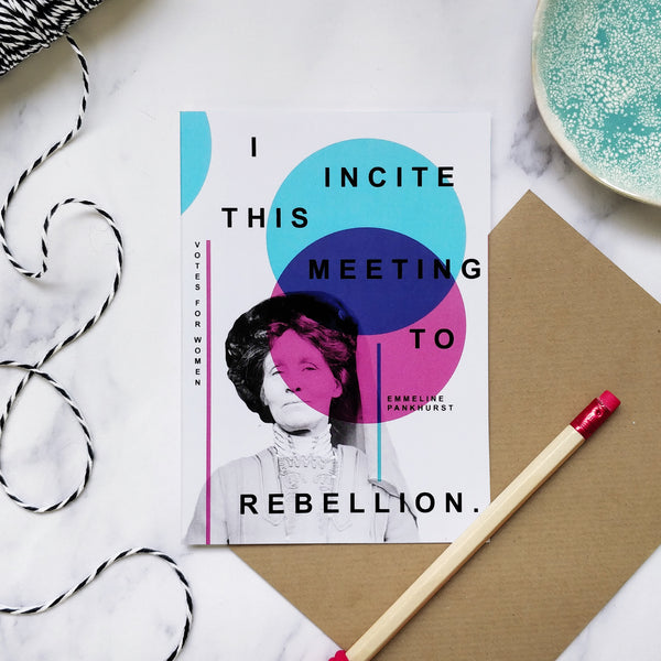 Votes For Women 'Rebellion' Greeting Card
