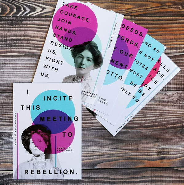 Votes For Women Suffragette Quotes - Pack Of Five Postcards