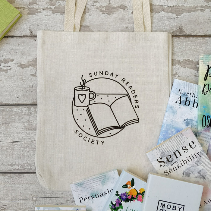 Literary 'Sunday Readers Society' Tote Bag
