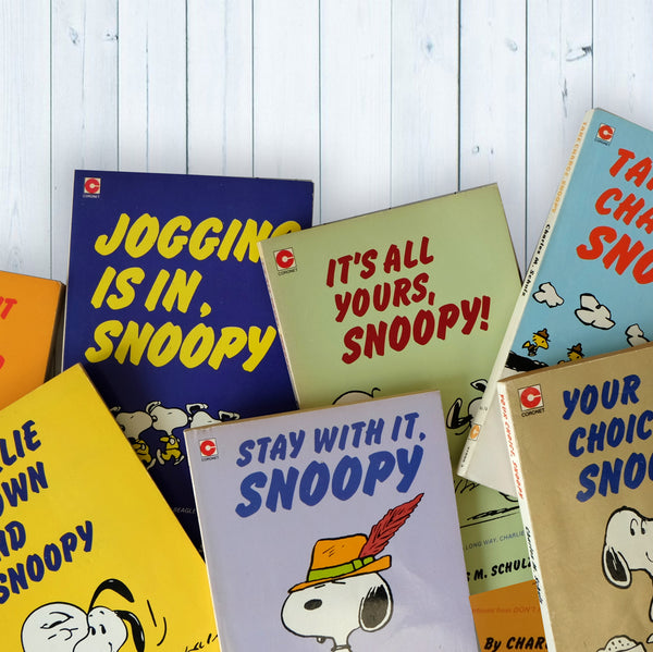 Vintage Snoopy Charles M Schulz Mini Library Book Bundle