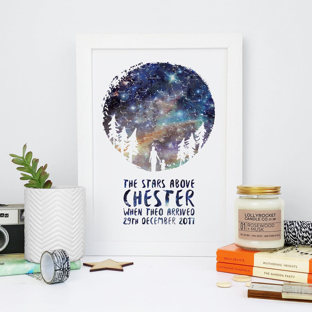 Mother's Day Design - Personalised Map of the Stars