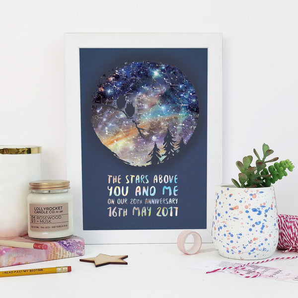 Personalised Owls Star Chart Print Romantic