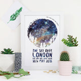 Family Of Wolves - Personalised Star Chart Print