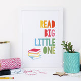 """Read Big, Little One"" children's wall art for book lovers"
