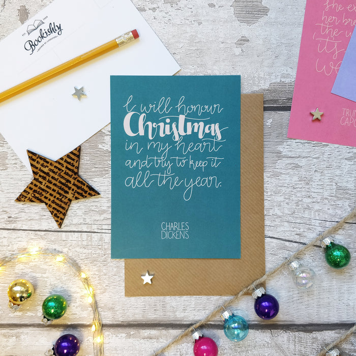 Pack Of Eight Christmas Postcards - Literary Christmas Quotes Set