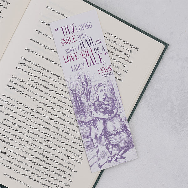 "Alice in Wonderland "" Loving Smile "" Bookmark"
