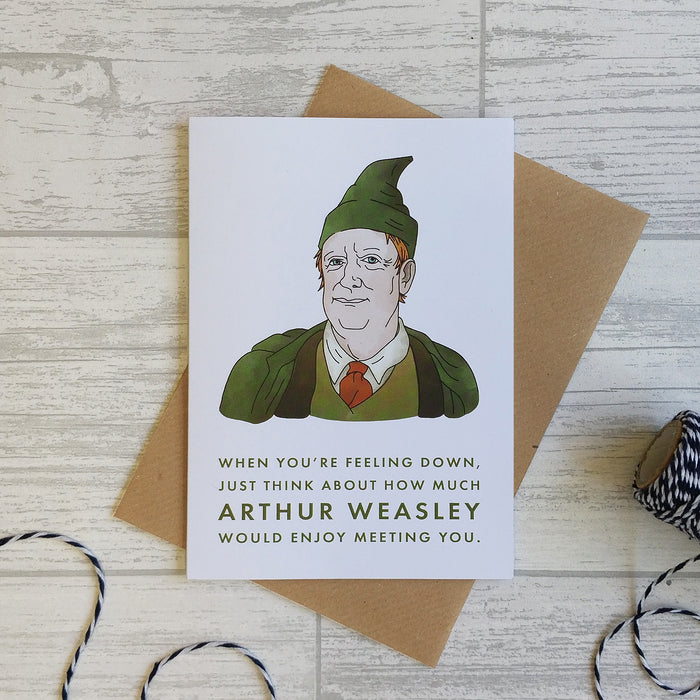 Mr Weasley card to cheer up friend