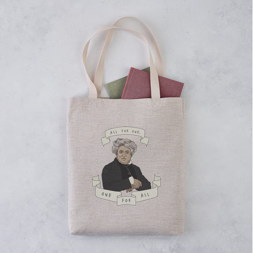 "Alexandre Dumas ""All for One"" Illustrative Author Tote Bag"