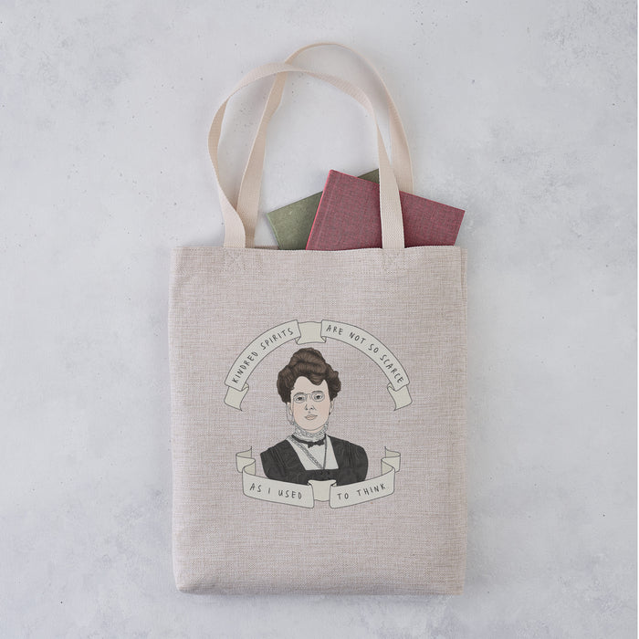 L.M Montgomery 'Kindred Spirits' Author Banner Illustration Tote Bag