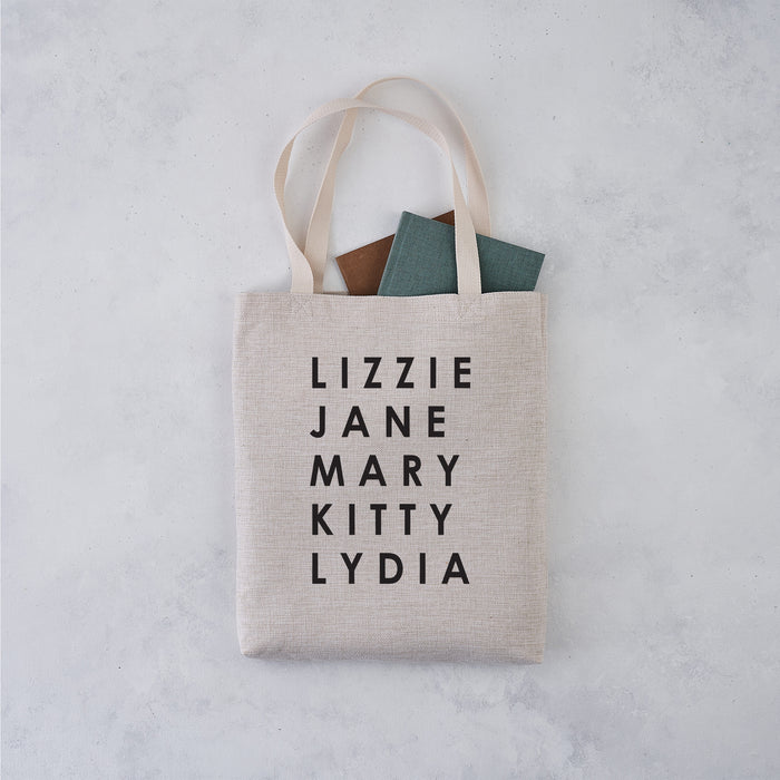 jane austen pride and prejudice bennet sisters tote bag