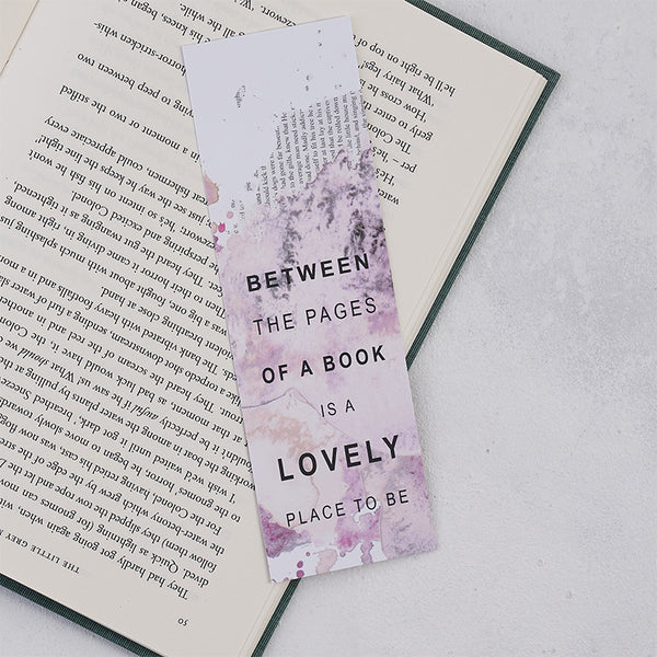 "Blush Pink ""Between The Pages Of A Book"" Bookmark"