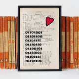 """I love you"" Binary Print Romantic"