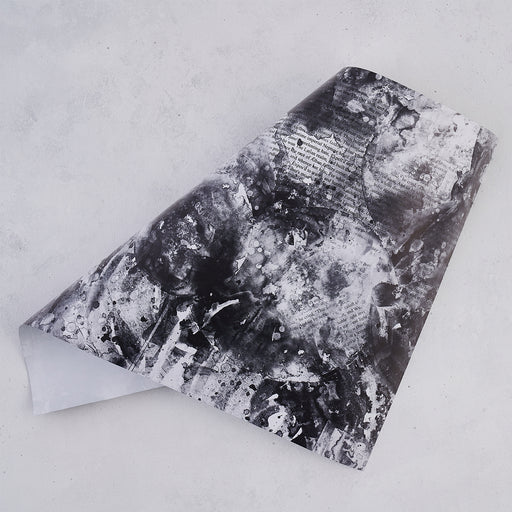 Five Wrapping Paper Sheets - Monochrome Design
