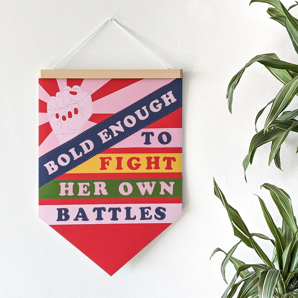 Empowering 'Bold Enough' Pennant Print