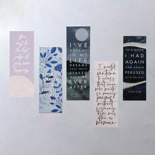 Book Lover Female Author Bookmark Bundle - Five Pack