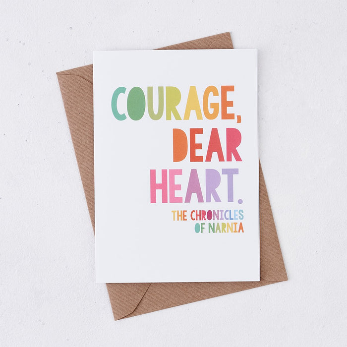 courage dear heart thinking of you card rainbow design