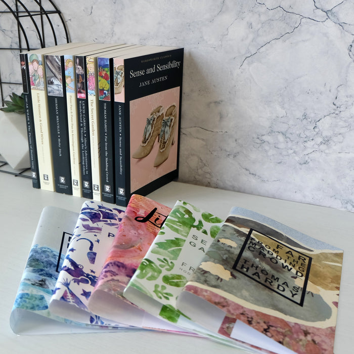Pride and Prejudice book with Bookishly's cover design