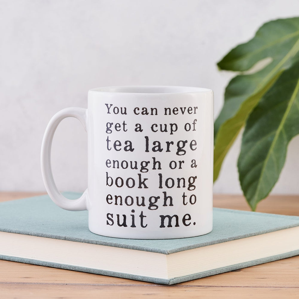 cs lewis book lover mug you can never get a cup of tea large enough or a book long enough to suit me