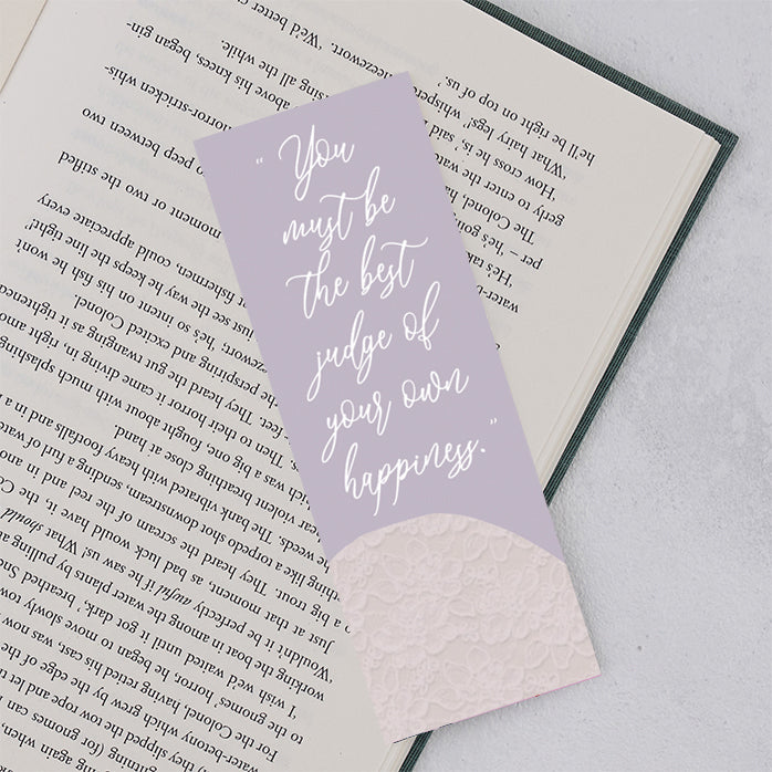 "Emma ""The Best Judge of Your Own Happiness"" Bookmark"