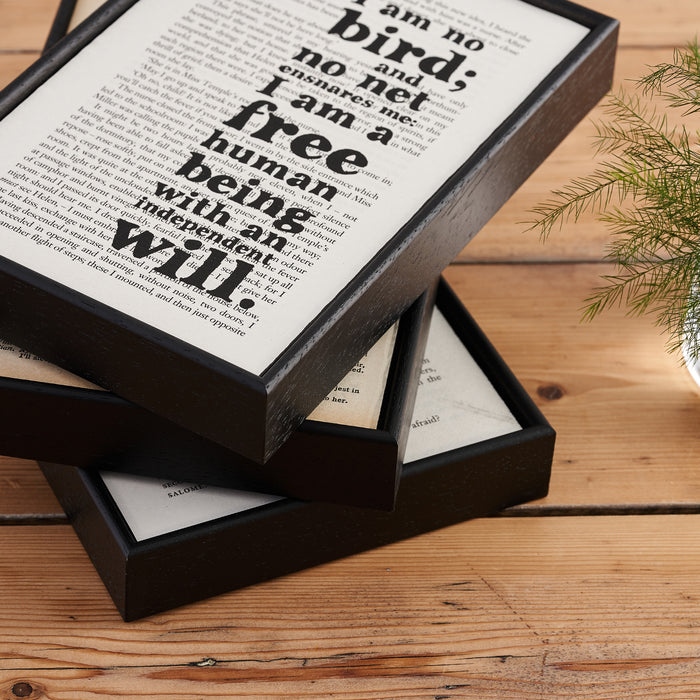 "Oscar Wilde ""We Are All In The Gutter..."" Inspirational Quote - Framed Typographical Book Page Art"