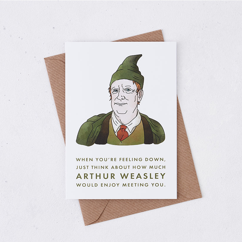 Mr Weasley Cheer Up Card For Friend