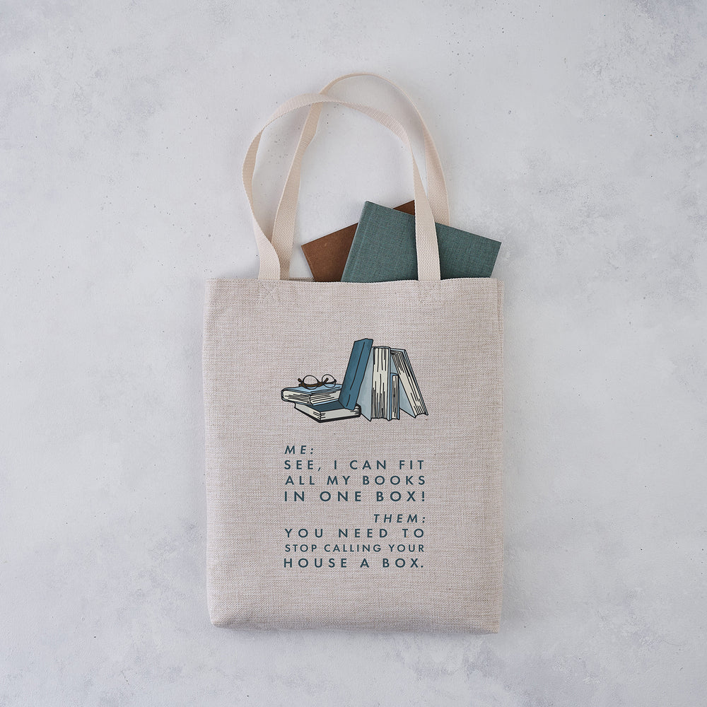 funny 'i can fit all my books' relatable book lover tote bag