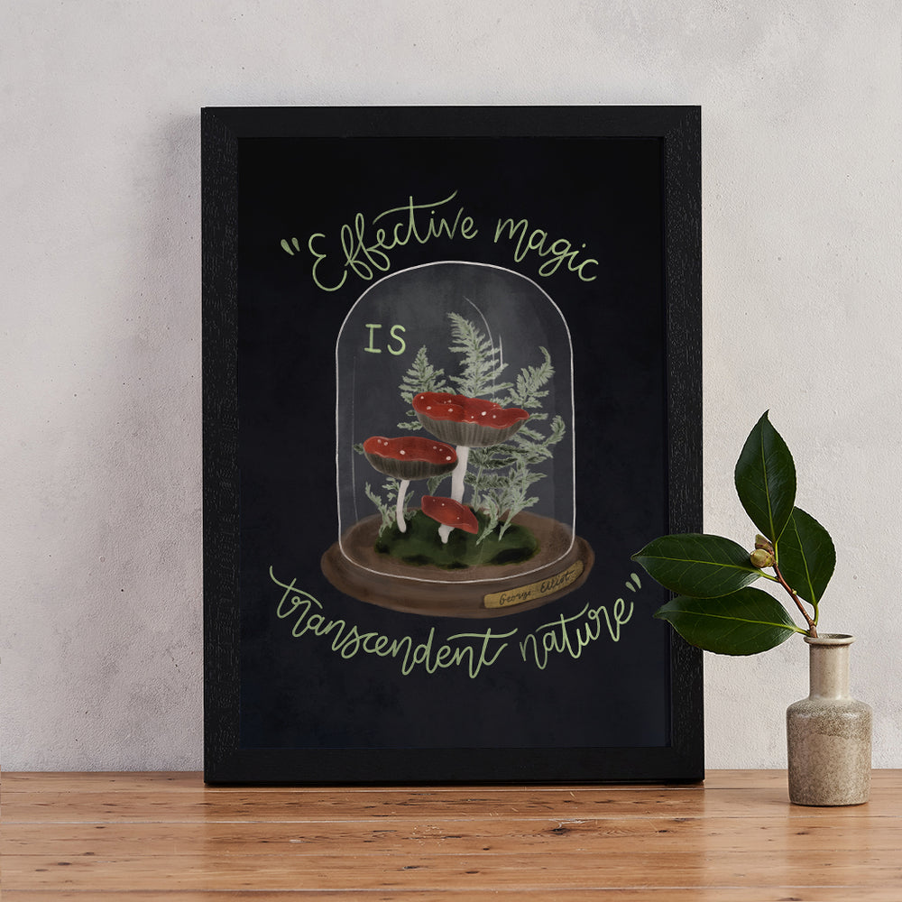 George Eliot Magic Quote Mushroom Print