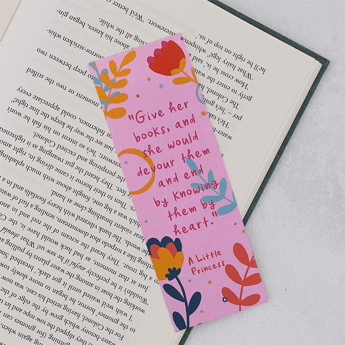 "A Little Princess ""Give Her Books"" Bookmark"