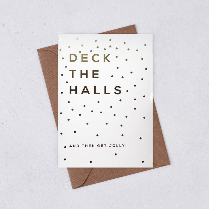 Gold Foil 'Deck The Halls' Card