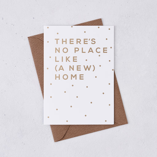 Gold Foil 'A New Home' Housewarming Card