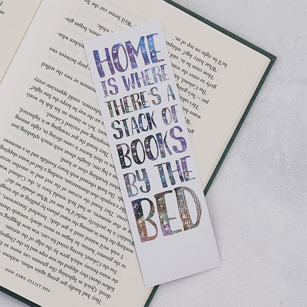 "Purple ""Stack of Books"" Bookmark"