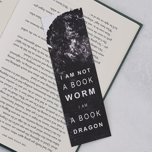 "Book Lover ""I Am A Book Dragon"" Bookmark"