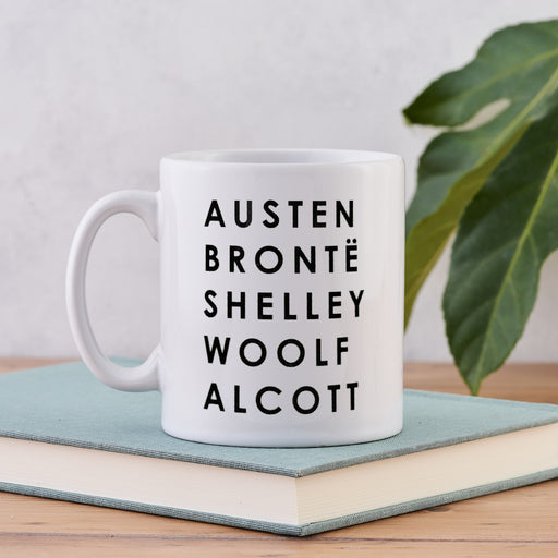 iconic female authors in classic literature literary list mug