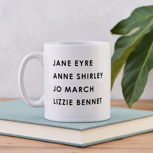 strong female characters in classic literature list mug