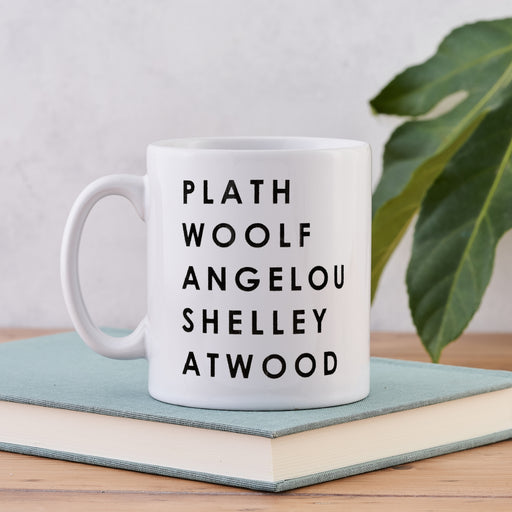 iconic feminist authors in literature mug gift