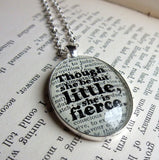 Shakespeare quote theatre buff gift necklace