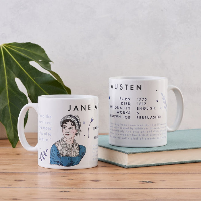 jane austen author mug book lover gift