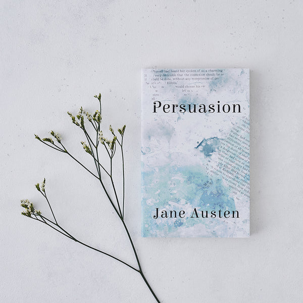 blue watercolour persuasion by jane austen with exclusive cover