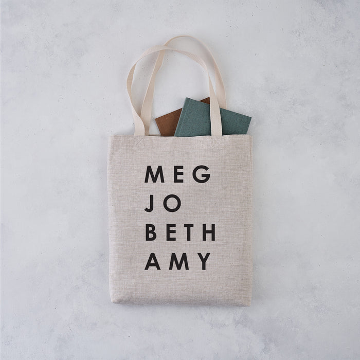 Little Women March Sisters Tote Bag