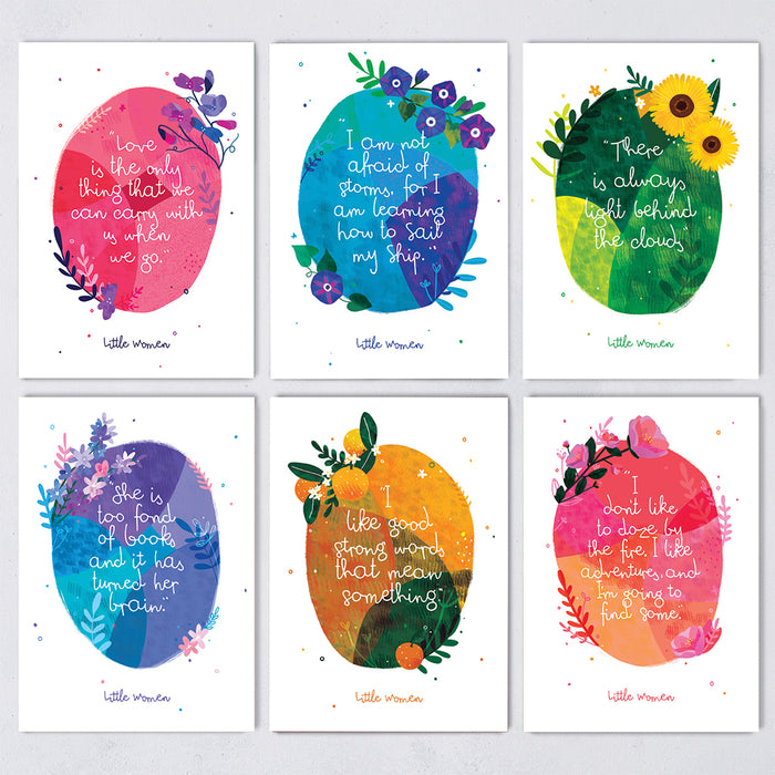 Little Women Quotes Postcard Set - 12 Pack